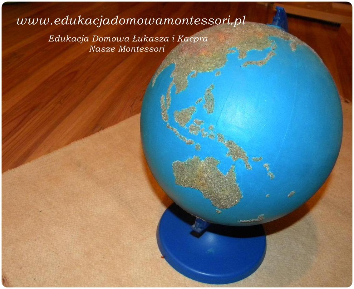 Globus lądy wody jak zrobić ?