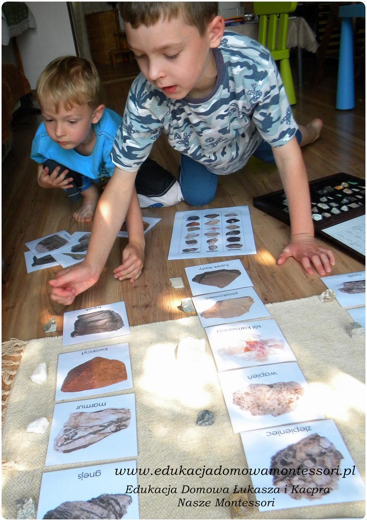 geologia montessori skał