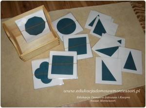 Karty-Z figurami 1-geometrycznymi